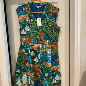 NWT Emily and Fin Frankie San Jose Print Dress XL